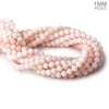 Pale Pink Peruvian Opal plain round beads 16 inch 59 pieces 7mm