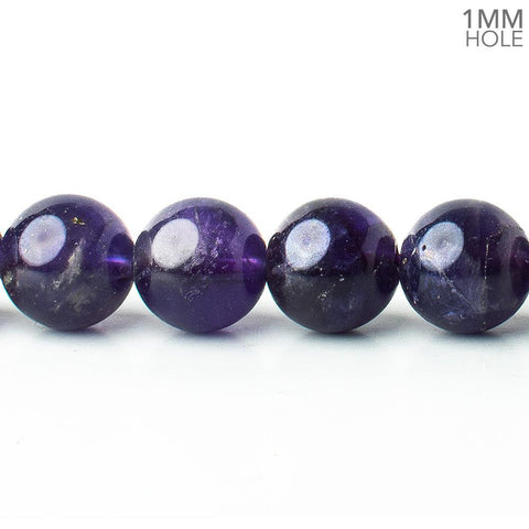10mm Amethyst plain rounds 15.5 inch 41 beads