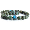 Labradorite hand carved melon beads 20 inch 11.5-18.5mm 39 pieces