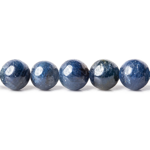 Blue Sapphire plain round beads 16 inch 6.5-8mm 57 pieces