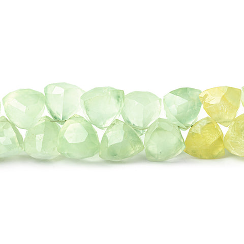 Prehnite top drilled Triangles 8 inch 53 beads 8mm A