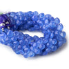 7.5mm Santorini Blue Chalcedony faceted hearts 8 inch 57 beads