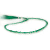 3-4mm Frosted green Onyx plain rondelle beads 12 inch 110 pieces