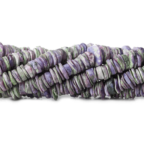5-7mm Charoite Center Drilled Hishi Beads 8 inch 180 pieces