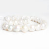 11mm-14mm White Baroque Freshwater Pearls 16 inch 34 pieces