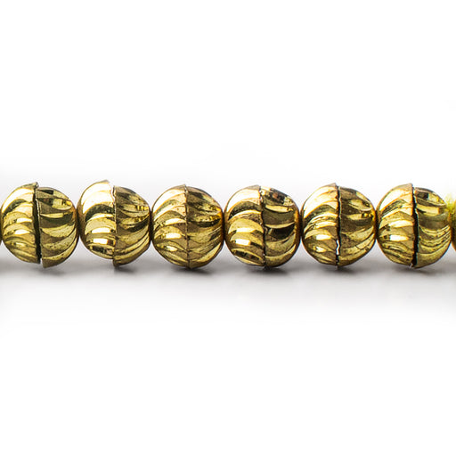 3x6mm Brass Bead Caps, 8 inch