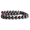 Garnet plain round large hole beads 16 inch 38 pieces 10.5mm - 11mm