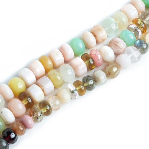7mm-8mm Multi Gemstone Mixed Shape Beads - Lot of 3