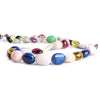 7x6mm-15x10.5mm Multi Gemstone Plain Oval Beads 16 inch 38 pieces