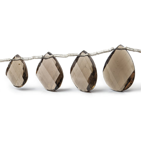 Smoky Quartz Beads Faceted 8-10mm Twist Pears