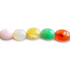 10x7mm-12x10mm Multi Gemstone Plain Ovals 17 inch 40 pieces