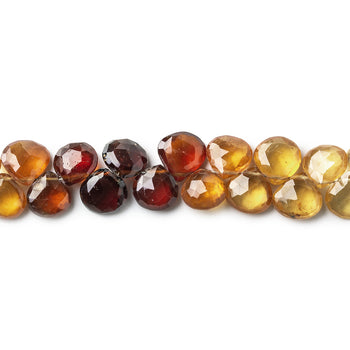 Natural Hessonite Garnet Gemstone,Faceted Heard Beads,Wire Wrappped Making Jewelery,Gemstone Size 6-8 mm,Full 1 Strands X 8 inches,BL-52
