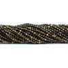 2.5mm Cat's Eye Quartz Micro Faceted Round Beads 12.5 inch 145 pieces