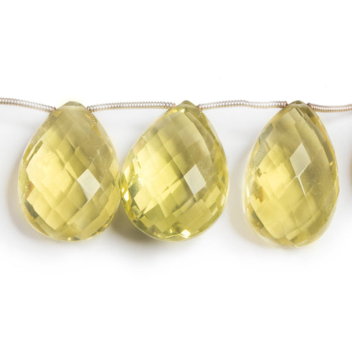 17-23mm Lemon Quartz Pear Briolette Beads 8 inch 12 pieces
