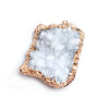43x35x34mm Rose Gold Leafed White Drusy Focal Pendant 1 piece