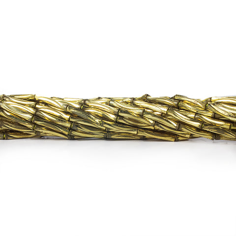 Top quality 9mm Brass Curved Grooved Tube Beads, 8 inch - Buy From The Bead Traders Online Store