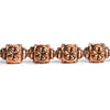 Copper Lantern with Flower Design Beads 8 inch 15 pieces