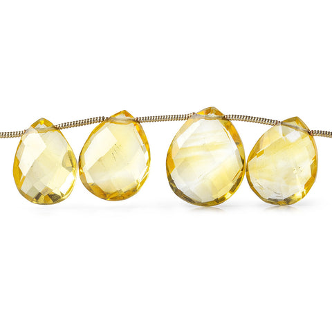 10x8-14x11mm Citrine Faceted Pears 7 inch 16 beads