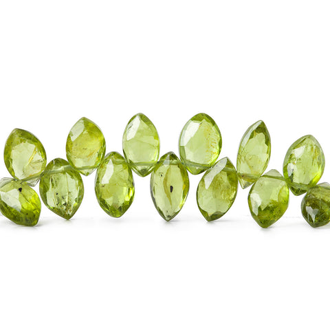 9mm Peridot Faceted Marquise Beads, 8 inch