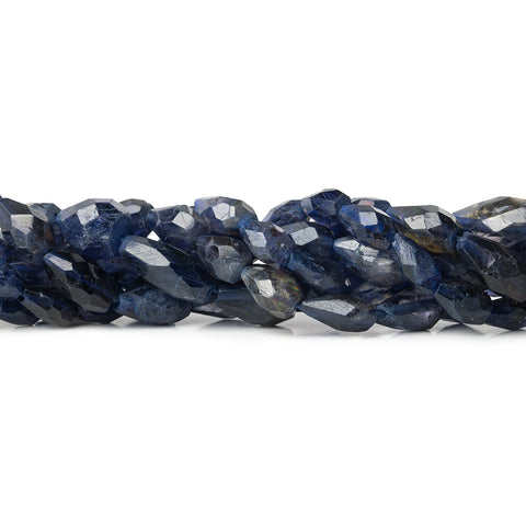 High quality 8mm Iolite Faceted Straight Drilled Teardrop Beads, 14 inch - Buy From The Bead Traders Online Store