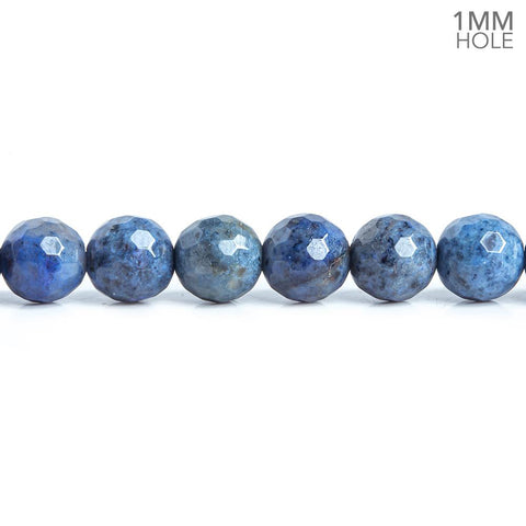 6mm Dumortierite Faceted Round Beads 15 inch 63 pieces