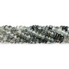5.5mm-7mm Black Tourmalinated Quartz Plain Rondelle Beads 16 inch 100 pieces