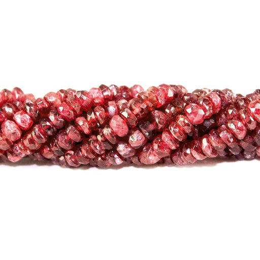 2-4mm Red Spinel faceted rondelle beads 16 inch 235 pieces