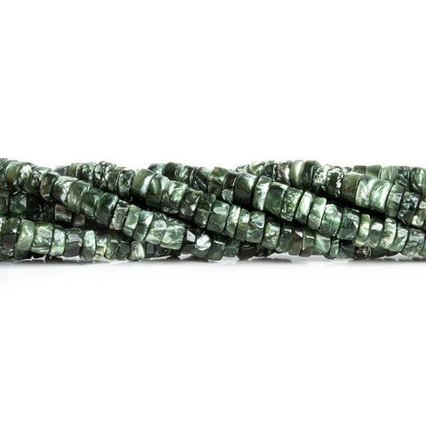 5mm Seraphinite Plain Heishi Beads 18 inch 220 pieces