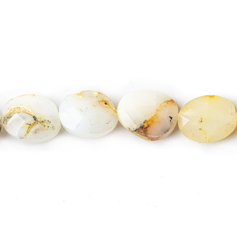 Best selling 10mm White Opal Faceted Oval Beads, 14 inch - Buy From The Bead Traders Online Store