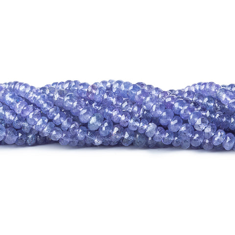 Tanzanite faceted rondelles 18 inch 145 beads 4mm average