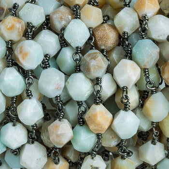 21 Pieces Amazonite UN Drilled Beads @AK301