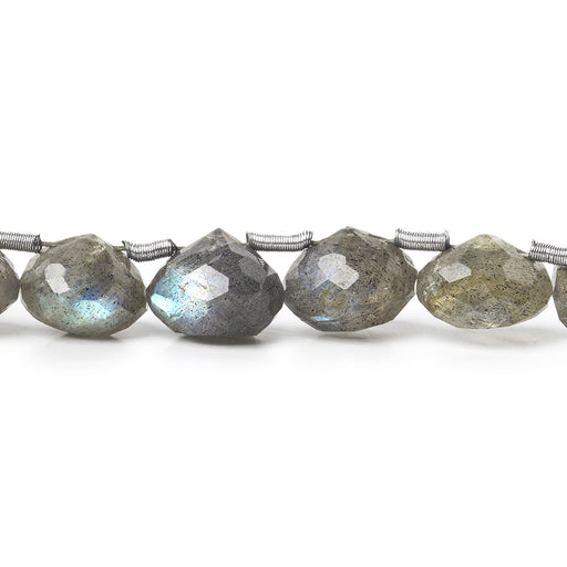 7x8-8x9mm Labradorite Faceted Candy Kiss Beads 8 inch 25 beads