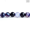 6mm Purple Banded Agate Plain Round Beads 15 inch 68 pieces