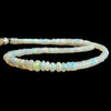 Cream Ethiopian Opal Plain Rondelle Beads 16 inch 175 pieces
