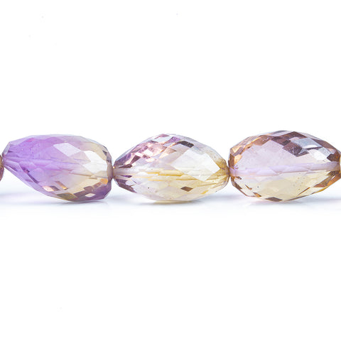 Ametrine Faceted Nugget Beads 8 inch 13 pieces