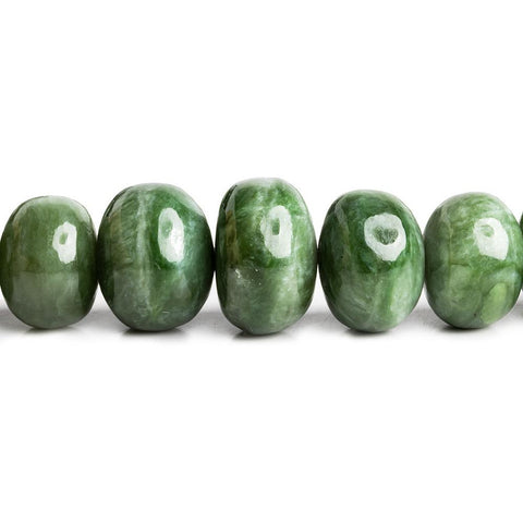 Nephrite Jade Plain Rondelle Beads 16 inch 43 pieces