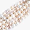 Tri Color Large Hole Freshwater Pearls - Lot of 5