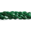 Green Aventurine Faceted Oval Beads 14 inch 33 pieces