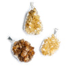 Silver Leafed Citrine Natural Crystals Focal Pendant 1 Piece