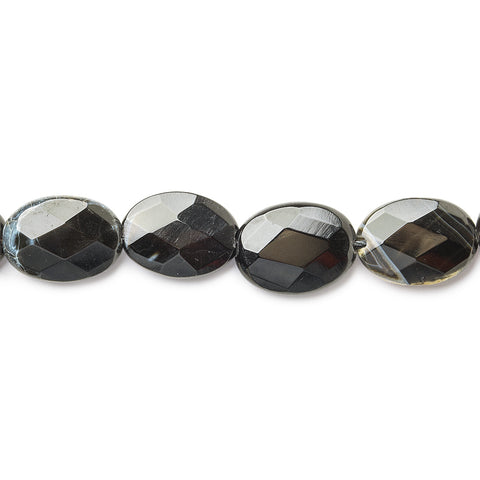 18mm Cobra Agate Faceted Oval Beads,15 inch