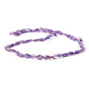 9mm Amethyst Plain Kite Beads, 14 inch