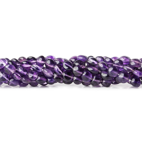 Beautiful range of 5mm Amethyst Puffy Coin Beads, 14 inch - Buy From The Bead Traders Online Store
