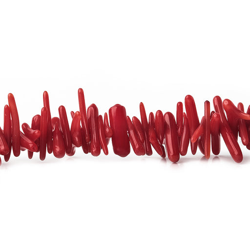 "Red Bamboo Coral Beads Chips 11x2mm avg, 16"" length, 300 pcs"