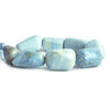 Denim Blue Opal Plain Nugget Beads 8 inch 8 pieces