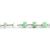 Matte Chrysoprase Heshi Black Gold Chain by the Foot 31 pieces