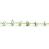 Green Kyanite Natural Crystal Gold Chain by the Foot 32 pieces