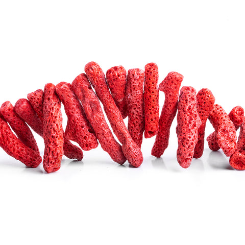 Red Coral Branch Beads 15 inch 50 pieces