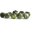Labradorite Hexagon Star Beads 8 inch 10 pieces