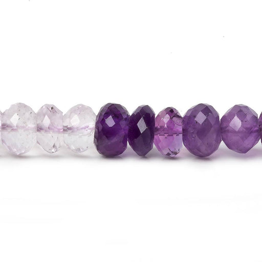 7-7.5mm Shaded Amethyst faceted rondelle beads 15 inch 84 pieces