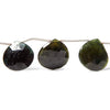 16mm Green and Bicolor Tourmaline Heart Beads 8 inch 9 pieces